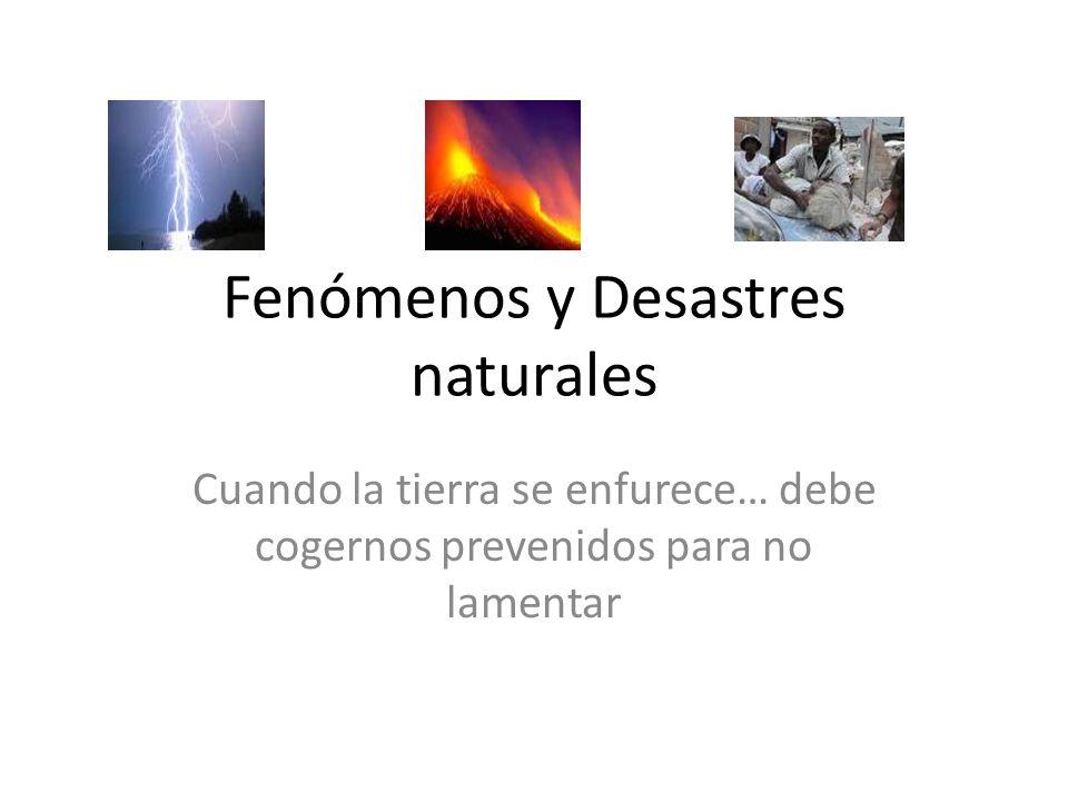LOS DESASTRES NATURALES Y SU IMPACTO SOCIO ECONÓMICO Tema
