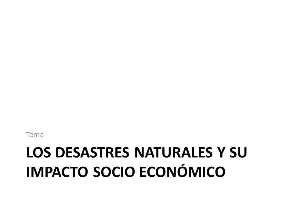 Una pregunta ¿Es lo mismo decir fenómeno natural, que desastre natural?