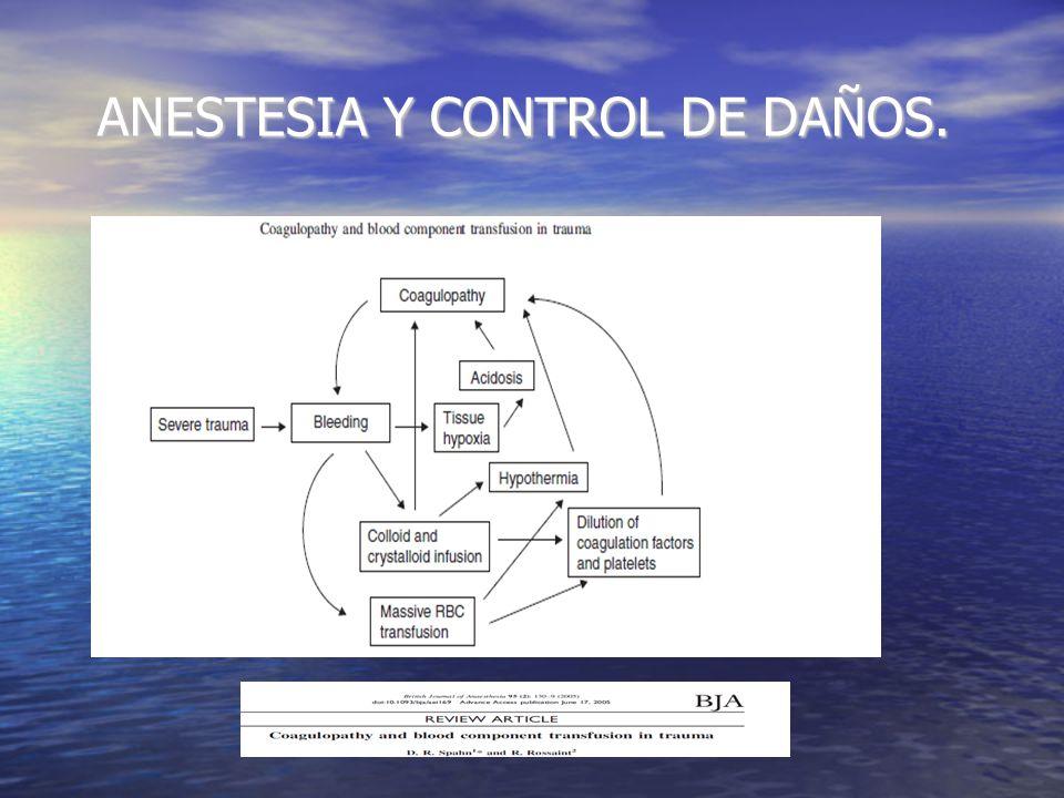 ANESTESIA Y CONTROL DE DAÑOS. HIPOTERMIA