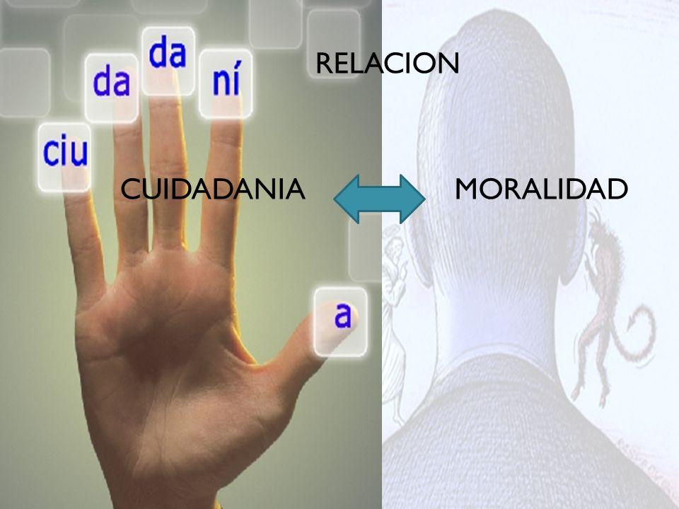 RELACION CUIDADANIA MORALIDAD