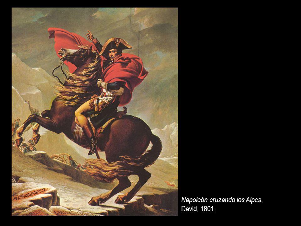 Napoleón cruzando los Alpes, David, 1801.