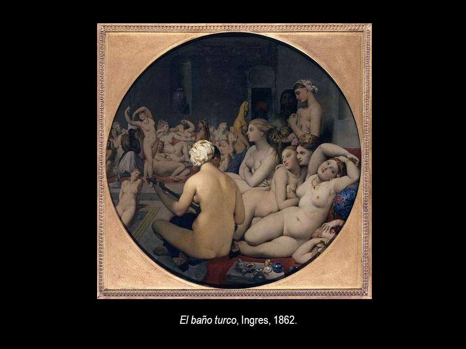 El baño turco, Ingres, 1862.