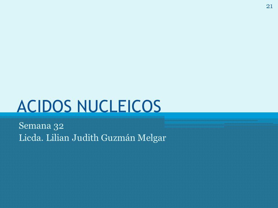 ACIDOS NUCLEICOS Semana 32 Licda. Lilian Judith Guzmán Melgar 21