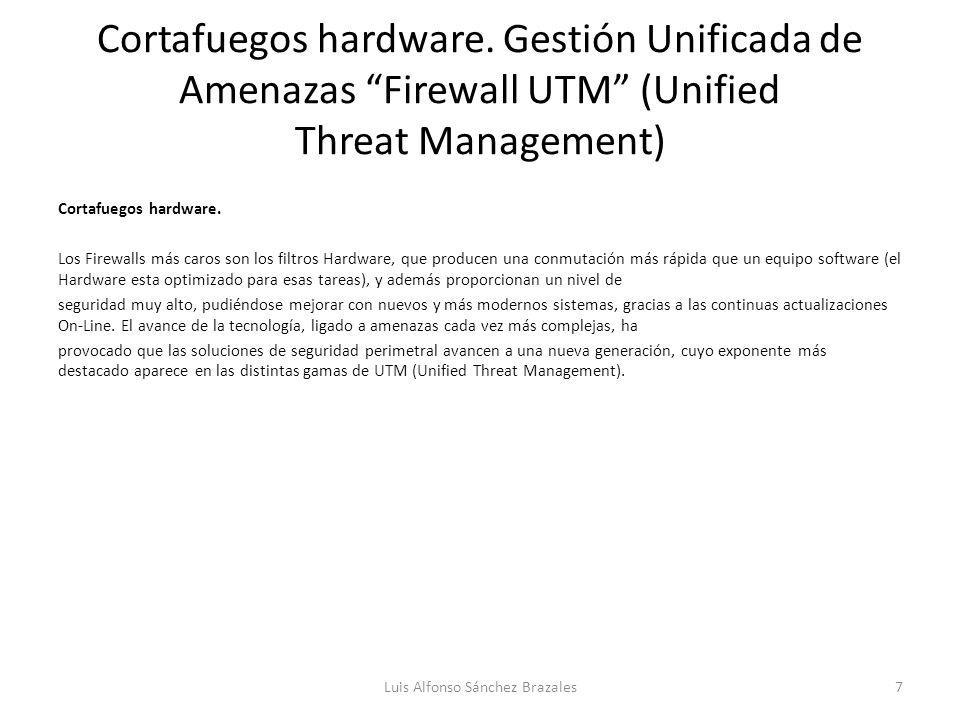 Cortafuegos hardware.