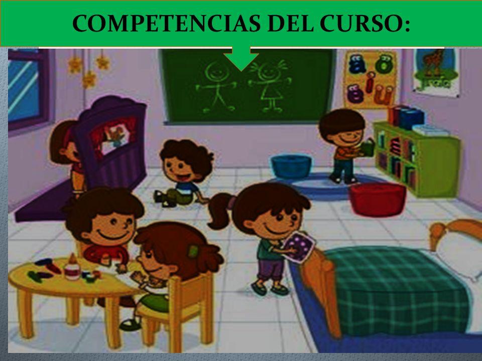 COMPETENCIAS DEL CURSO:
