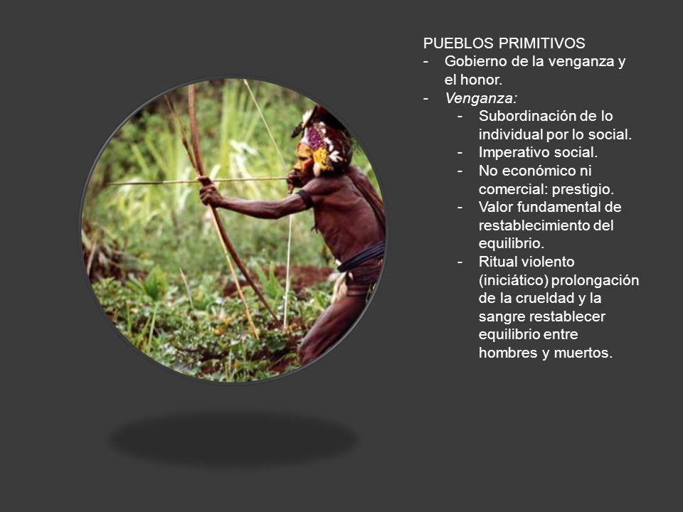 PUEBLOS PRIMITIVOS -Gobierno de la venganza y el honor.