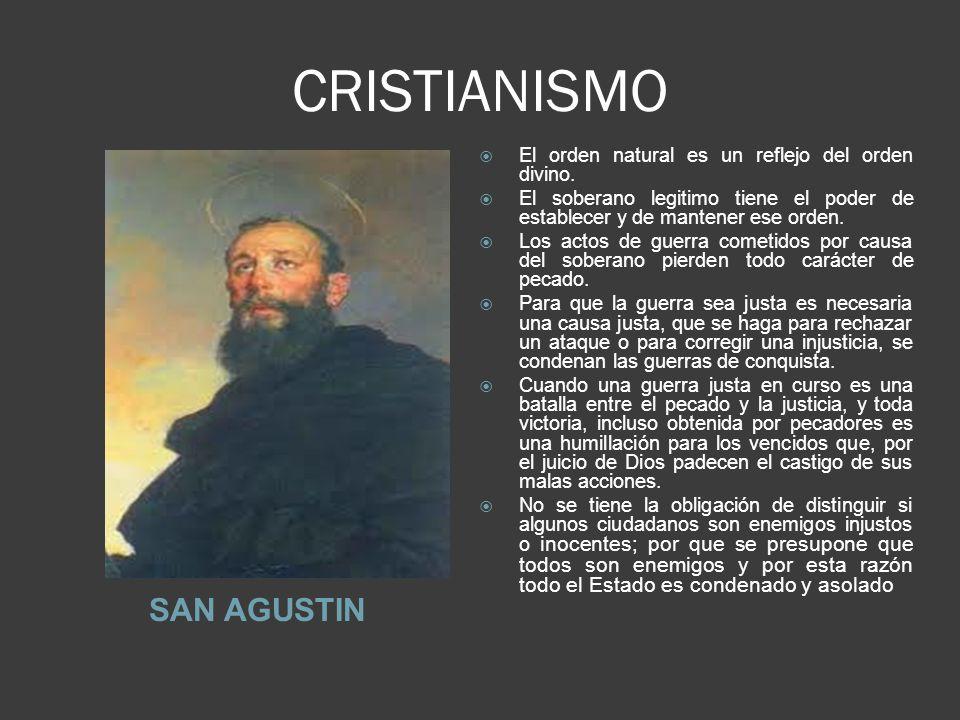 CRISTIANISMO SAN AGUSTIN El orden natural es un reflejo del orden divino.