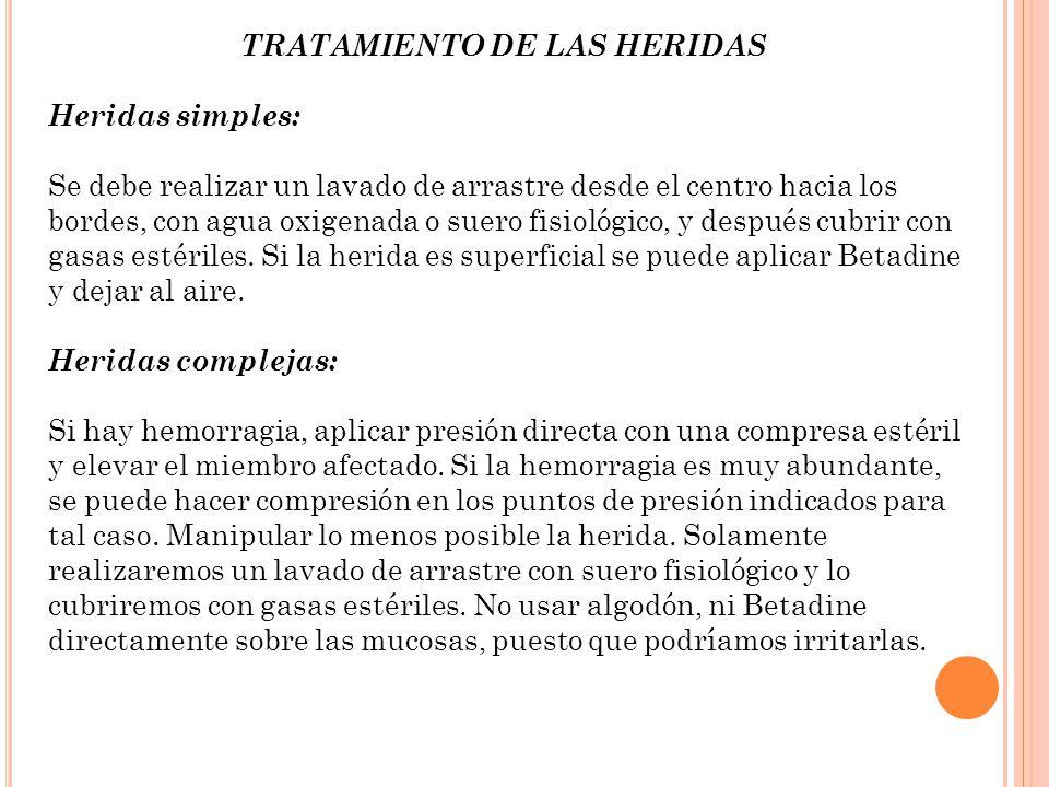 CASOS PARTICULARES DE HEMORRAGIA: - En caso de un miembro aplastado (no aprisionado) o seccionado, se aplicará un torniquete, si no funciona ninguna otra medida.