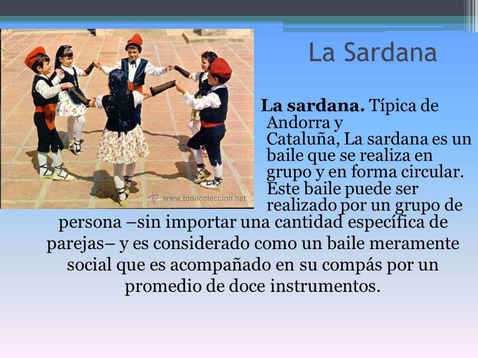 persona –sin importar una cantidad específica de parejas– y es considerado como un baile meramente social que es acompañado en su compás por un promed