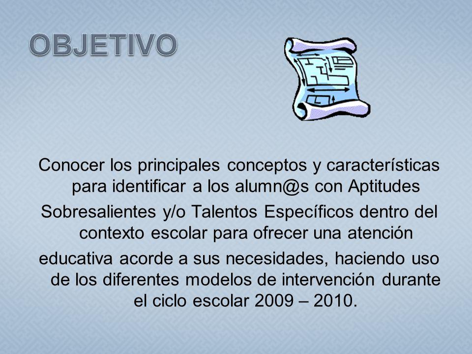 CONCEPTOS BÁSICOS.CARACTERÍSTICAS DE CADA APTITUD Y/O TALENTO.