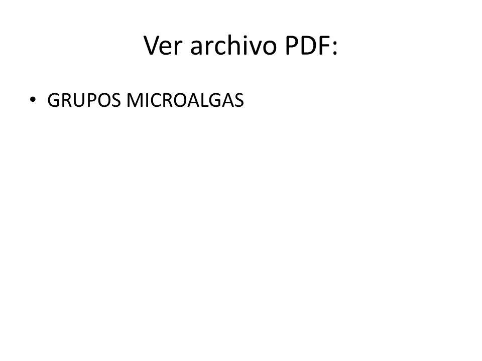 Ver archivo PDF: GRUPOS MICROALGAS