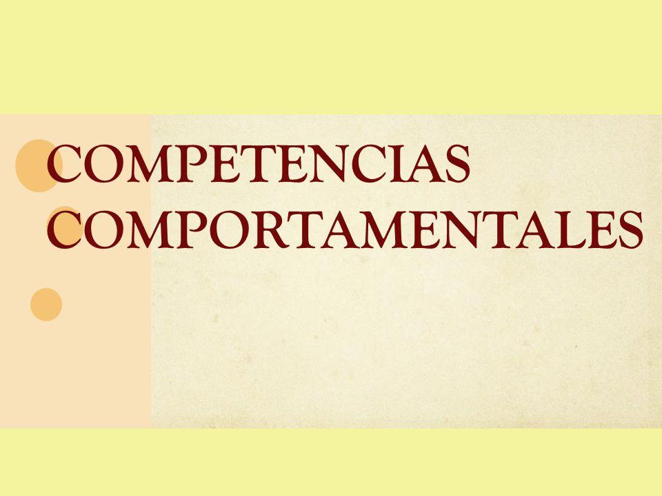 COMPORTAMENTAL 2012 Acción y logro 1.Orientación al logro Ayuda y servicio 2.