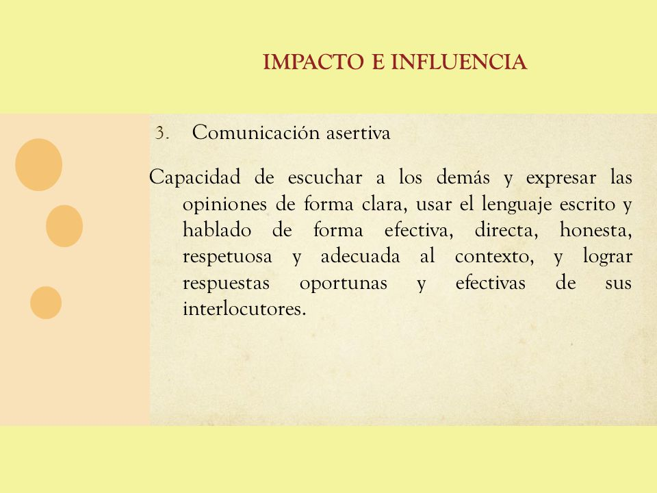 COMPETENCIAS COMPORTAMENTALES 4.