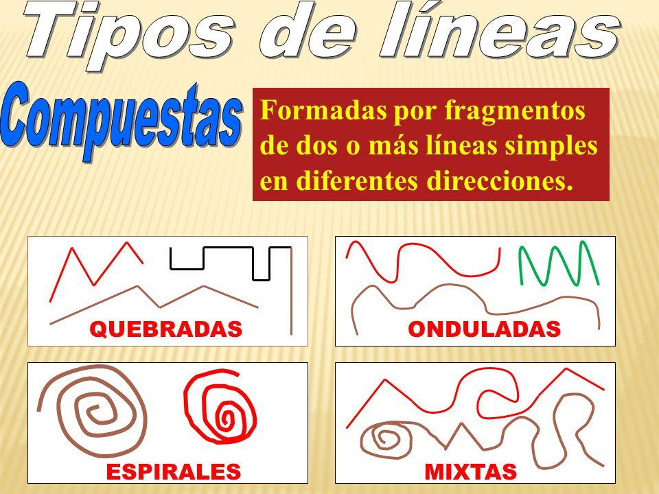 Formadas por fragmentos de dos o más líneas simples en diferentes direcciones.