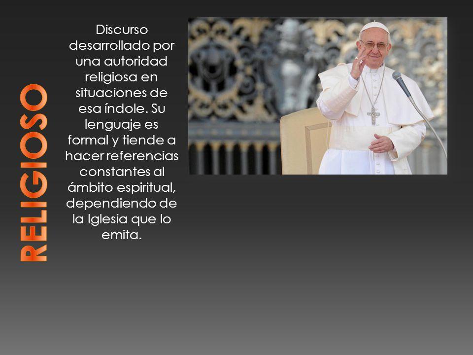 Discurso desarrollado por una autoridad religiosa en situaciones de esa índole.
