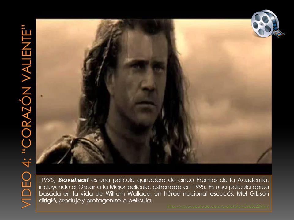 (1995) Braveheart es una película ganadora de cinco Premios de la Academia, incluyendo el Oscar a la Mejor película, estrenada en 1995.
