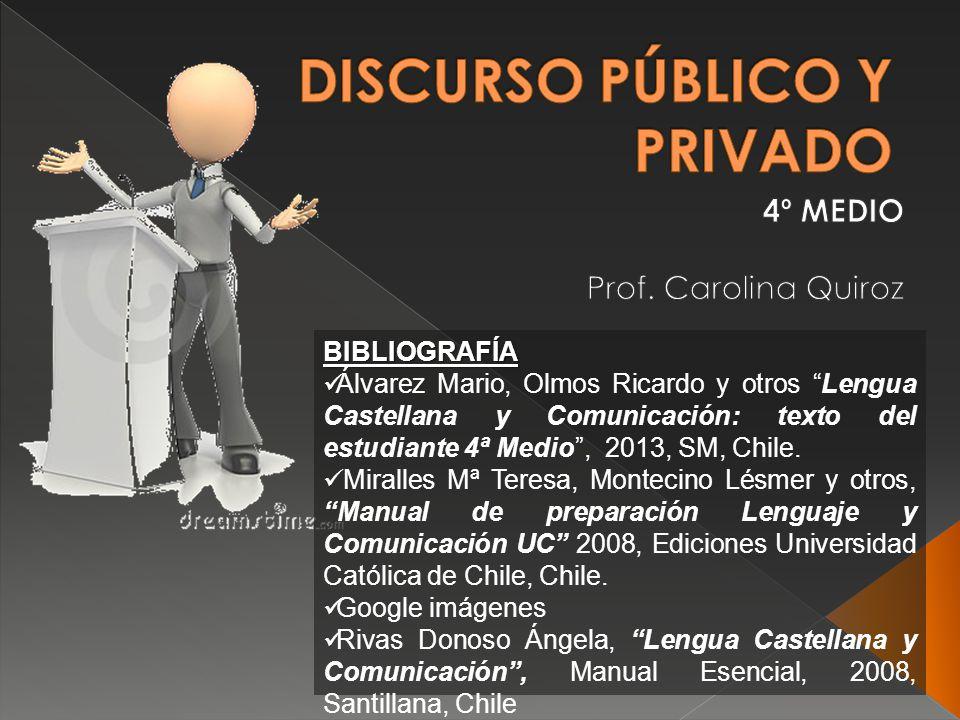 BIBLIOGRAFÍA Álvarez Mario, Olmos Ricardo y otros Lengua Castellana y Comunicación: texto del estudiante 4ª Medio, 2013, SM, Chile.