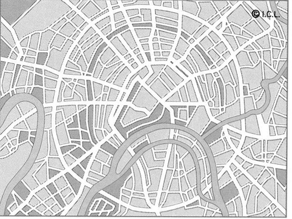 . Plano ortogonal, en retícula o damero: Formado por calles que se cortan en ángulo recto y con plazas bien definidas