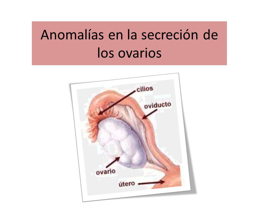 Anomalías en la secreción de los ovarios