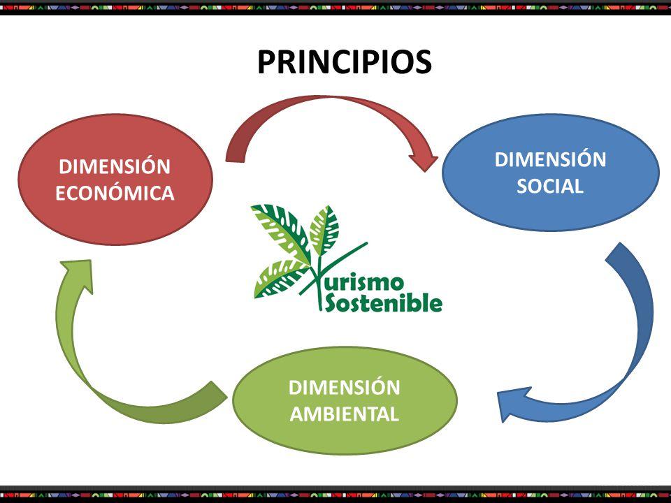 PRINCIPIOS DIMENSIÓN ECONÓMICA DIMENSIÓN AMBIENTAL DIMENSIÓN SOCIAL