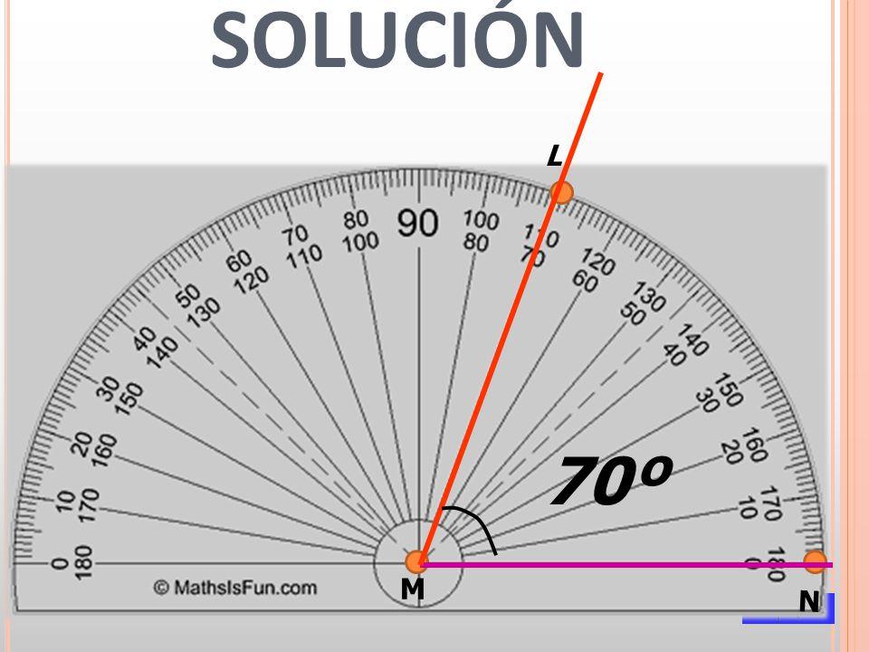 CRITERIOOBJETIVO a) Localizar ángulos y señalar sus elementos Conocer las clases de ángulos ACTIVIDAD: Escribe las distintas clases de ángulos representados en la figura y realizar su medida con el transportador: 1º________________________ 2º _____________________ 3º ______________________ 4º _______________________ 5º _____________________ 6º_______________________ 1 2 3 4 5 6