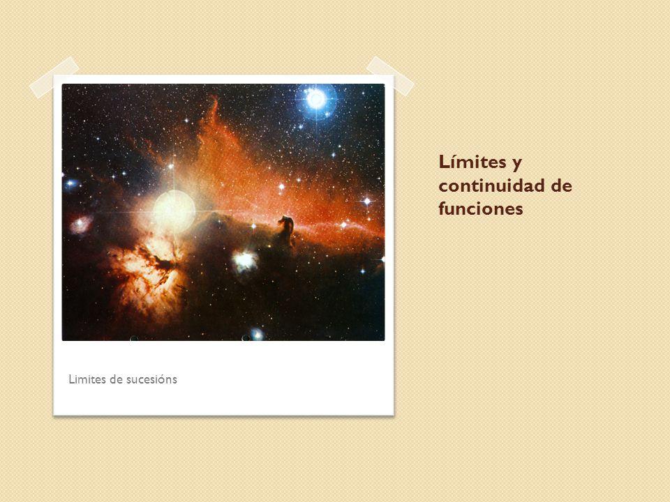 Límites y continuidad de funciones Limites de sucesións