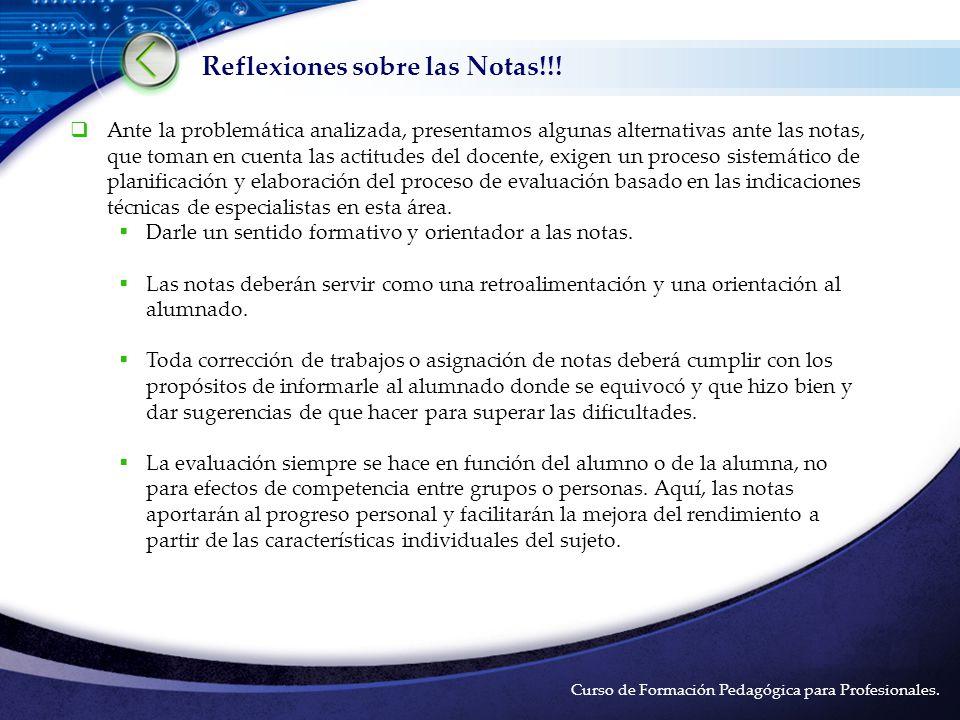 LOGO Reflexiones sobre las Notas!!.