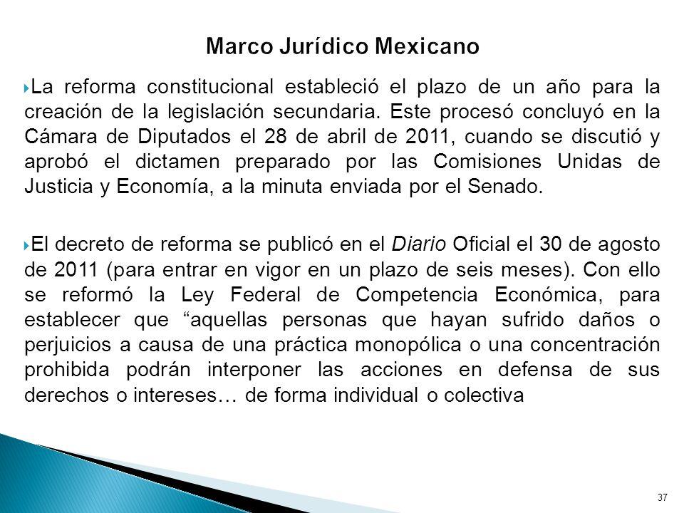 La reforma constitucional estableció el plazo de un año para la creación de la legislación secundaria.