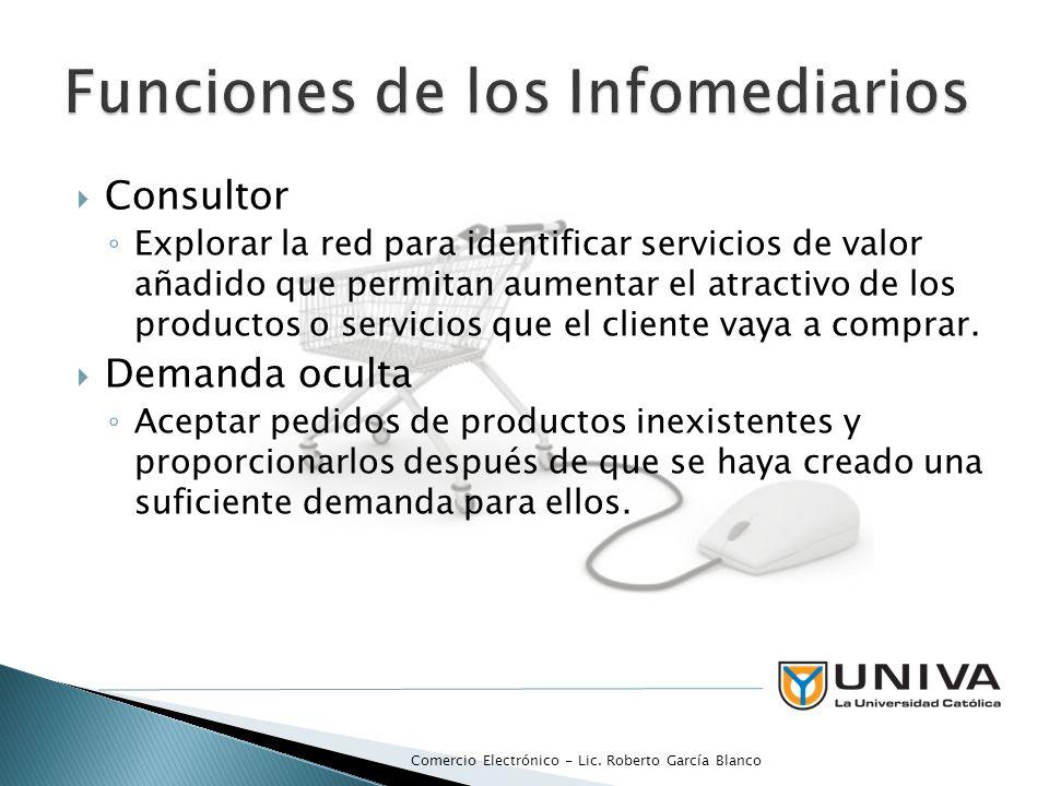 Consultor Explorar la red para identificar servicios de valor añadido que permitan aumentar el atractivo de los productos o servicios que el cliente vaya a comprar.