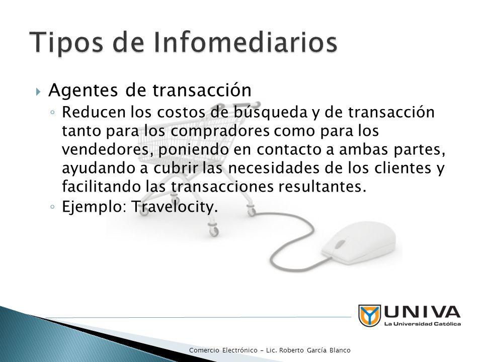 Agentes de transacción Reducen los costos de búsqueda y de transacción tanto para los compradores como para los vendedores, poniendo en contacto a ambas partes, ayudando a cubrir las necesidades de los clientes y facilitando las transacciones resultantes.