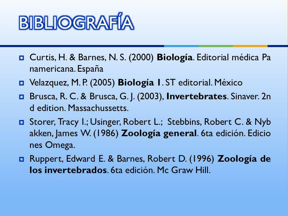 Curtis, H. & Barnes, N. S. (2000) Biología. Editorial médica Pa namericana. España Velazquez, M. P. (2005) Biología 1. ST editorial. México Brusca, R.