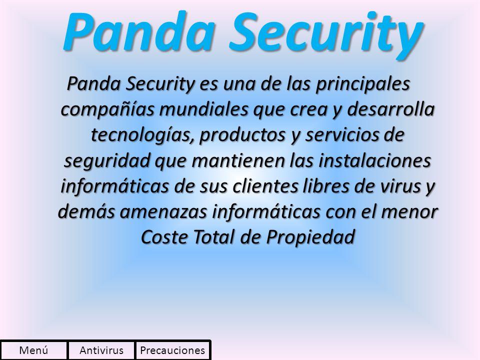 Panda Security Panda Security es una de las principales compañías mundiales que crea y desarrolla tecnologías, productos y servicios de seguridad que