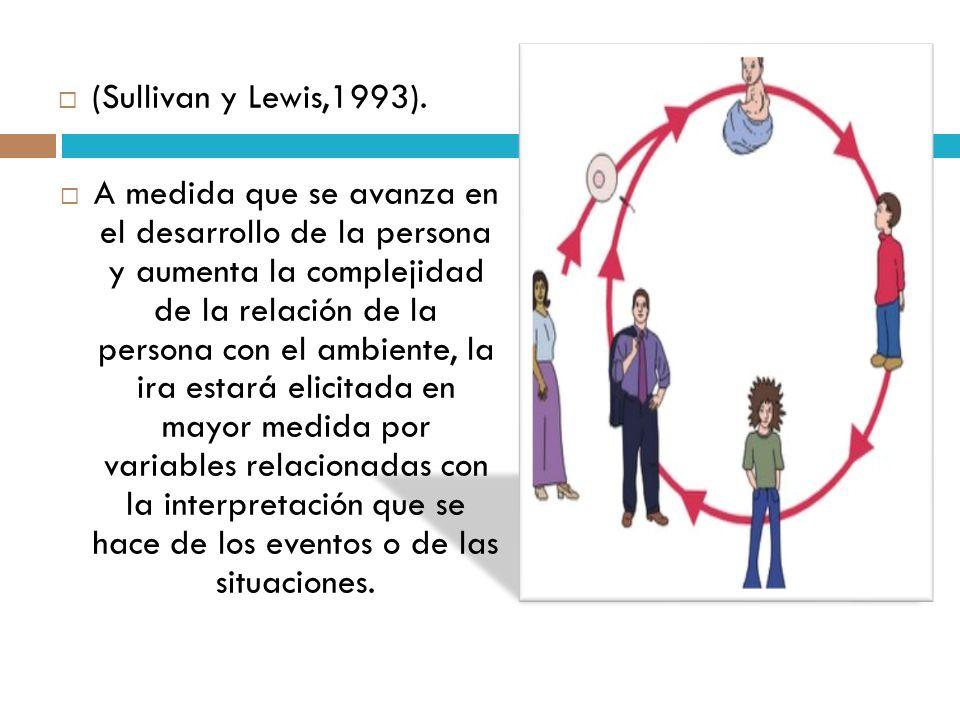 (Sullivan y Lewis,1993). A medida que se avanza en el desarrollo de la persona y aumenta la complejidad de la relación de la persona con el ambiente,