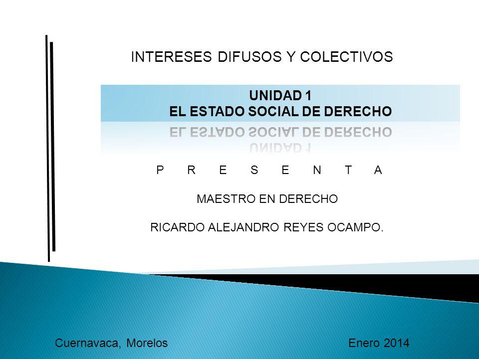 INTERESES DIFUSOS Y COLECTIVOS P R E S E N T A MAESTRO EN DERECHO RICARDO ALEJANDRO REYES OCAMPO.