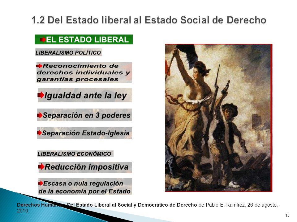 13 Derechos Humanos: Del Estado Liberal al Social y Democrático de Derecho de Pablo E.