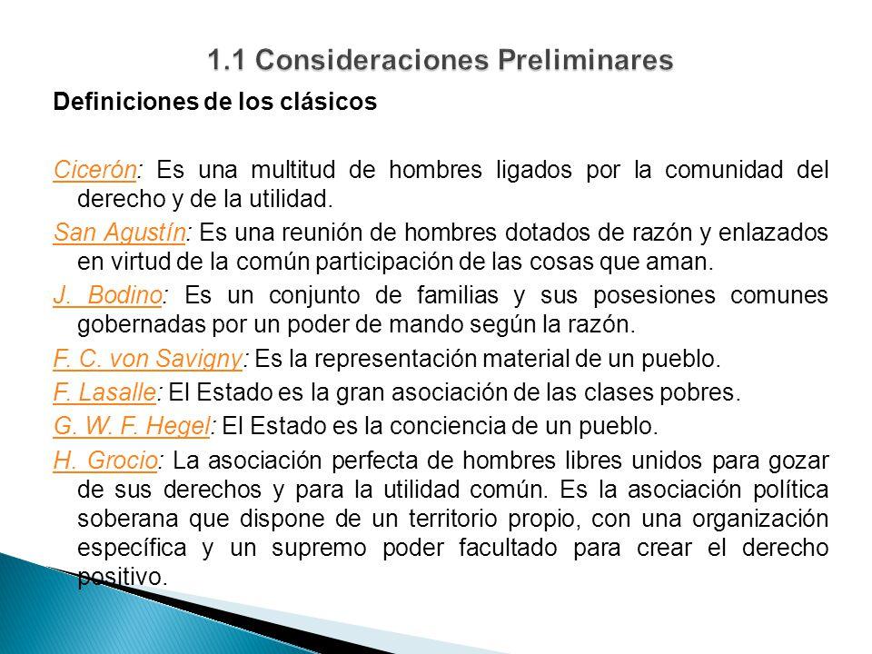 Definiciones de los clásicos CicerónCicerón: Es una multitud de hombres ligados por la comunidad del derecho y de la utilidad.