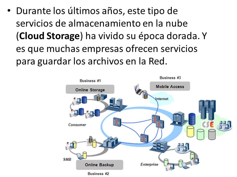 Durante los últimos años, este tipo de servicios de almacenamiento en la nube (Cloud Storage) ha vivido su época dorada. Y es que muchas empresas ofre