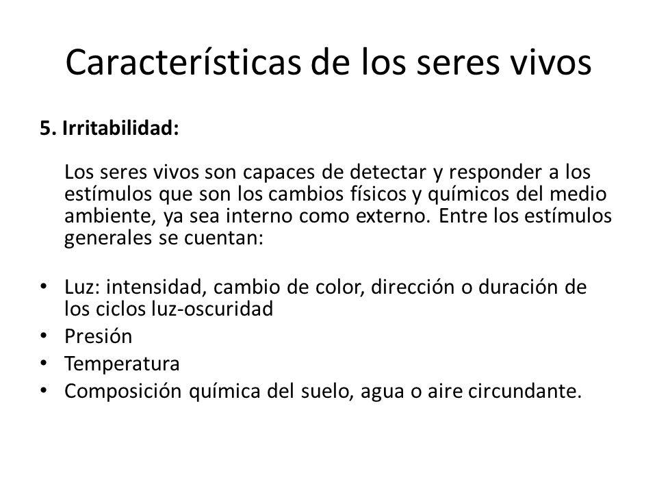 6) Reproducción (asexual y sexual) y herencia.Características de los seres vivos Rep.