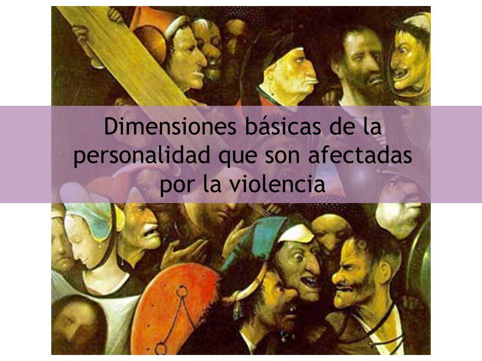 Dimensiones básicas de la personalidad que son afectadas por la violencia