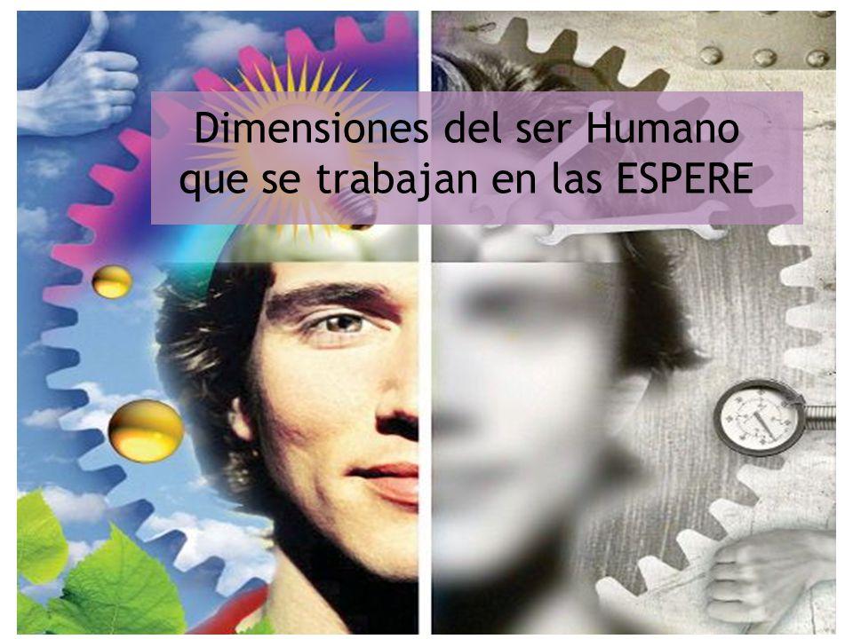 Dimensiones del ser Humano que se trabajan en las ESPERE