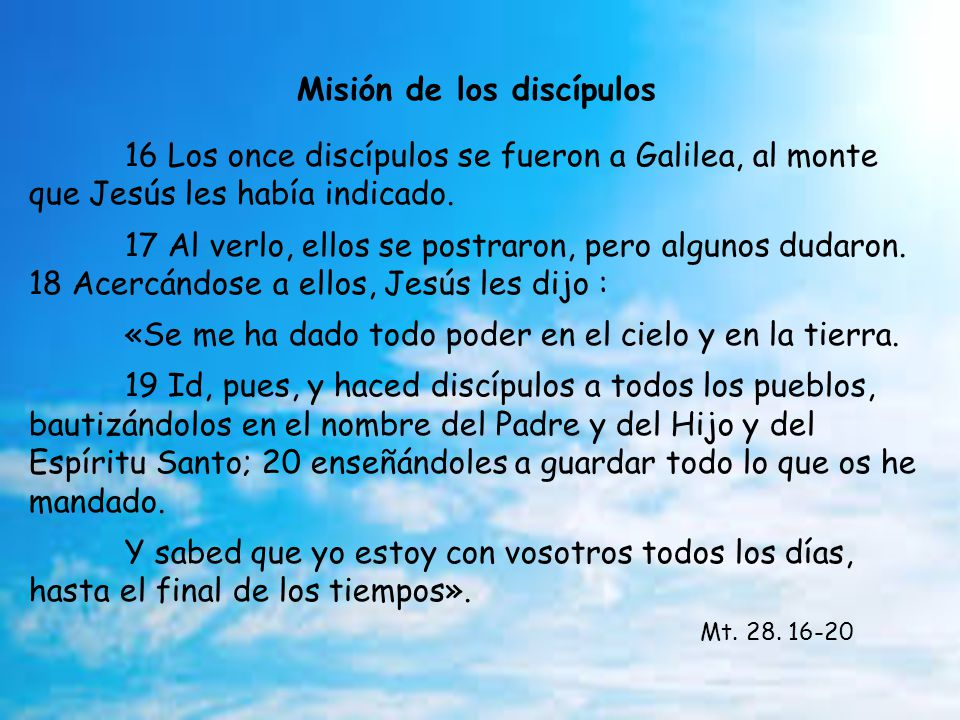 Coment. Evangelio Mt. 28. 16-20 D. Ascensión Ciclo A. 1 Junio 2014 +Jesús Sanz Montes. Arzobispo Oviedo Música: Scottist Hills Montaje: Eloísa DJ Avan