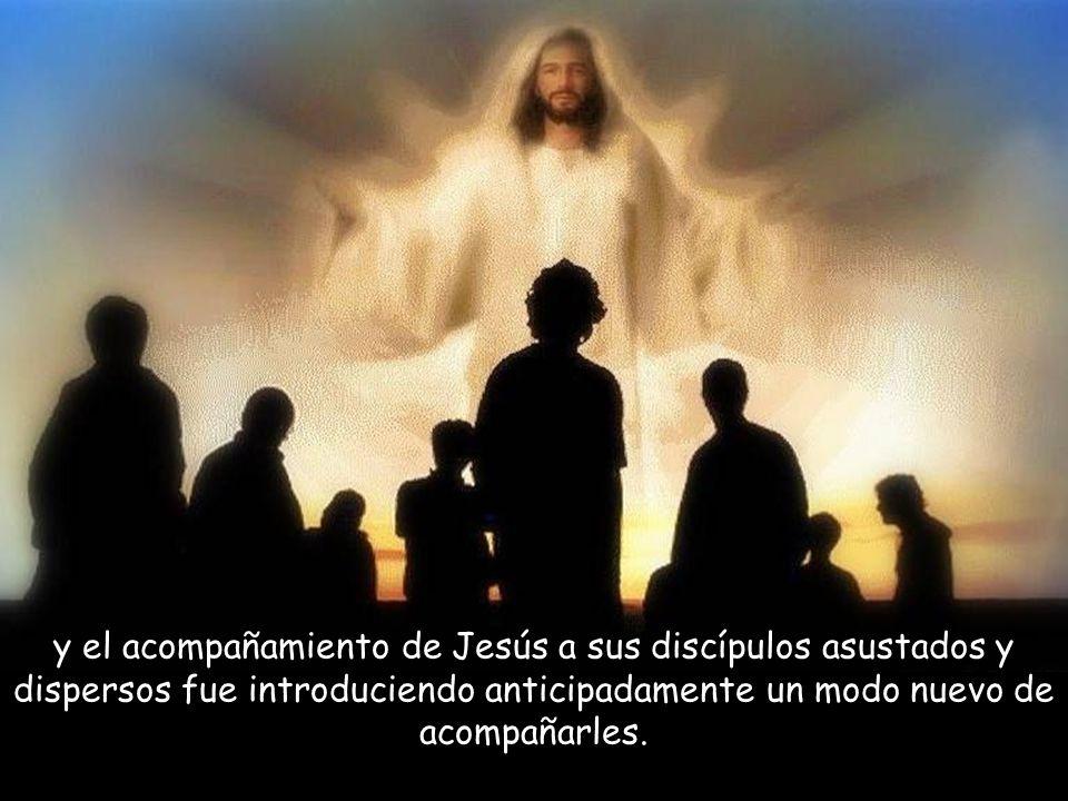 Llega el momento de la despedida del Maestro y sus discípulos. Los día pascuales fueron iluminando las penumbras de la Pasión,