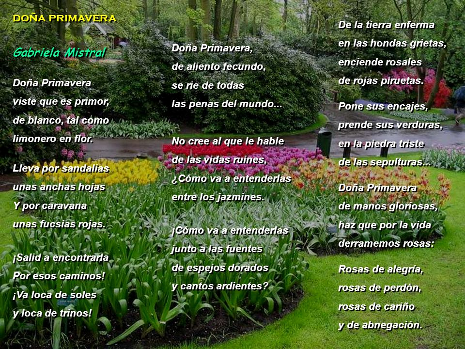 www.vitanoblepowerpoints.net doña primavera doña primavera Doña Primavera viste que es primor, de blanco, tal como limonero en flor.
