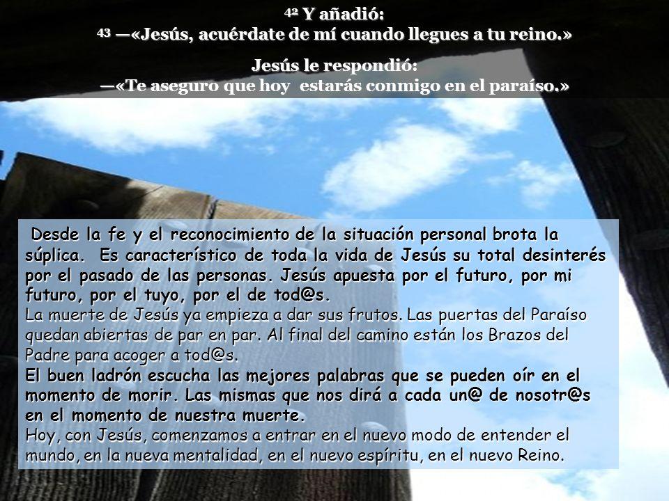 www.vitanoblepowerpoints.net 39 Uno de los malhechores crucificados lo insultaba, diciendo: «¿No eres tú el Mesías.