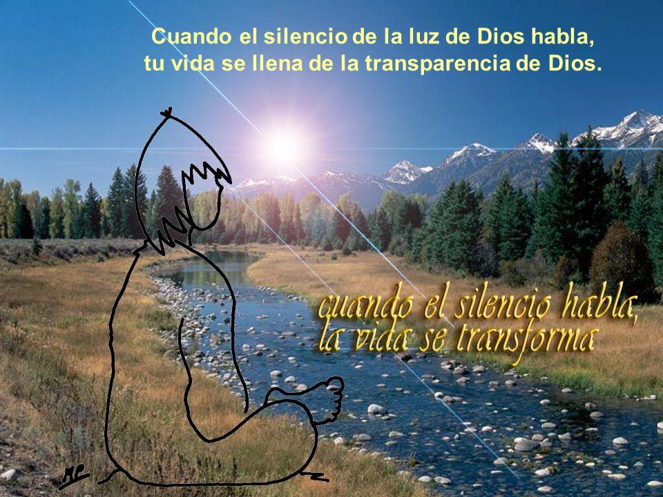 Vita Noble Powerpoints Cuando el silencio te habla en el alma, te transformas en enamorado de Dios.