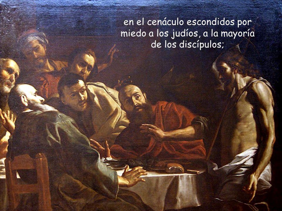 A cada uno lo encontrará en su drama y en su evasión: llorando a la puerta del sepulcro, a María Magdalena;