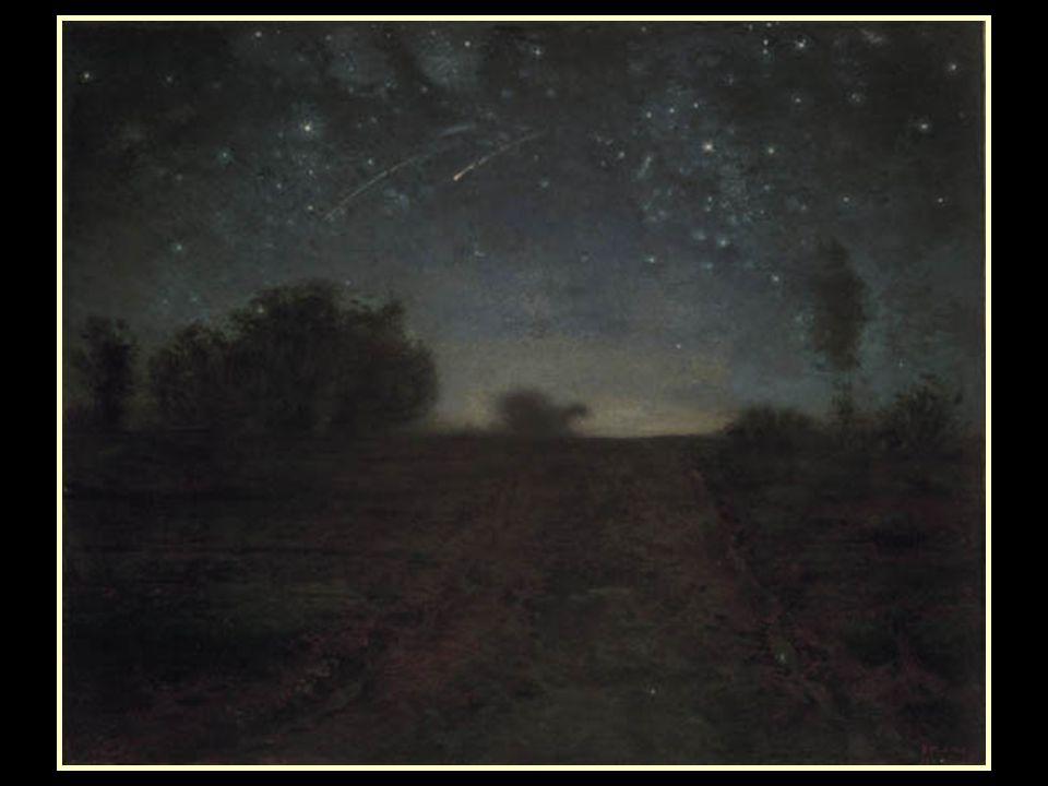 www.vitanoblepowerpoints.net De los 870 cuadros que dejó al morir, una mayoría de las obras de Van Gogh fueron copias de motivos de Millet, aunque en determinado momento, su mimetismo con su maestro fue tan grande, que llegó a pintar una obra muy similar a otra de éste, aunque nunca llegó a ver ni hablar de ese original, como sucedió con La Nuit ètoilèe (La noche estrellada)