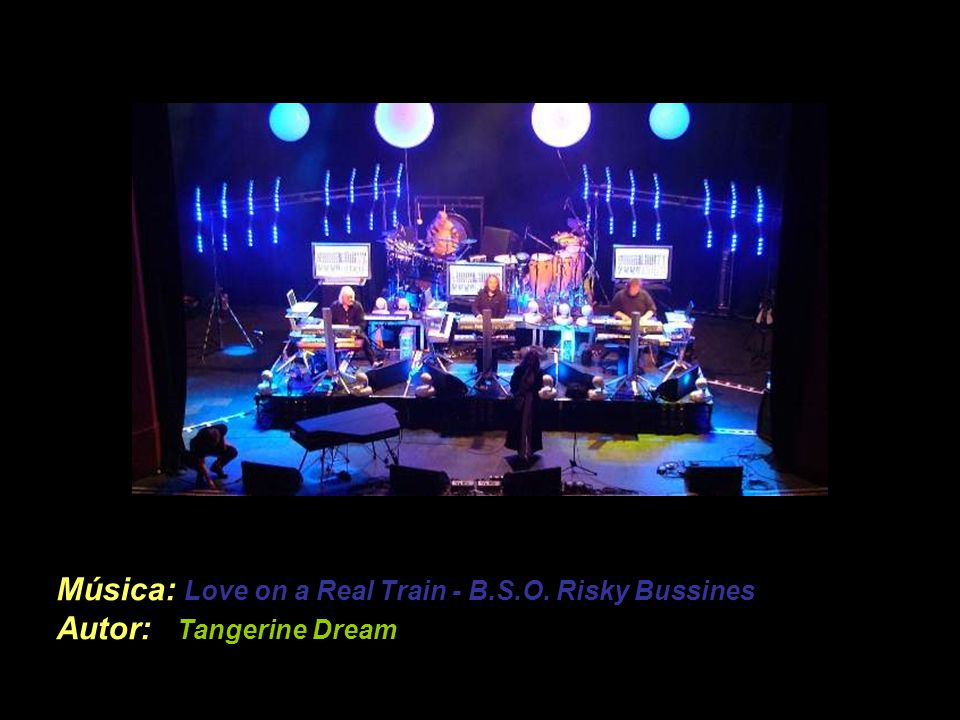 Música: Love on a Real Train - B.S.O. Risky Bussines Autor: Tangerine Dream