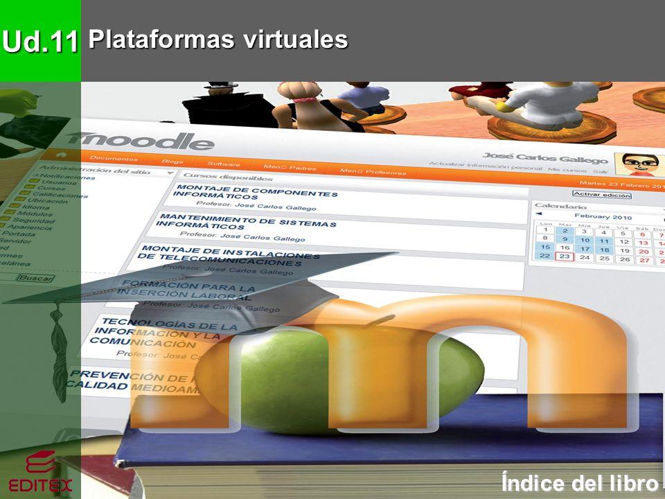 Ud.11 Plataformas virtuales Índice del libro Índice del libro