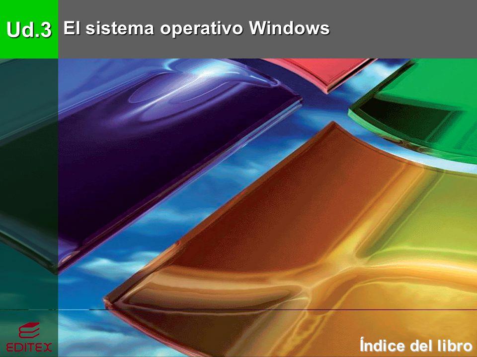 Ud.3 El sistema operativo Windows Índice del libro Índice del libro